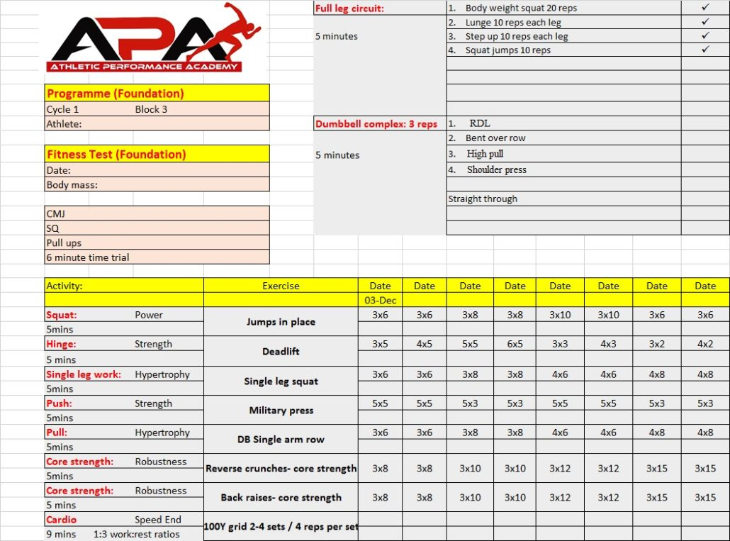 Max Strength Programme
