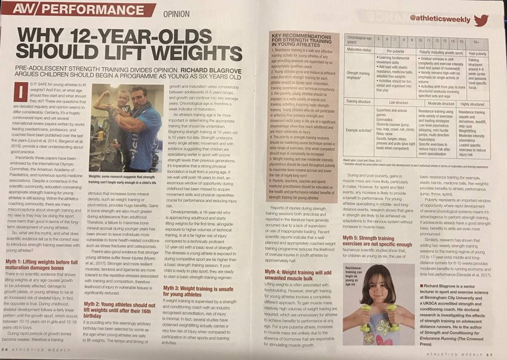 Why 12-year olds should lift weights! - Athletic Performance